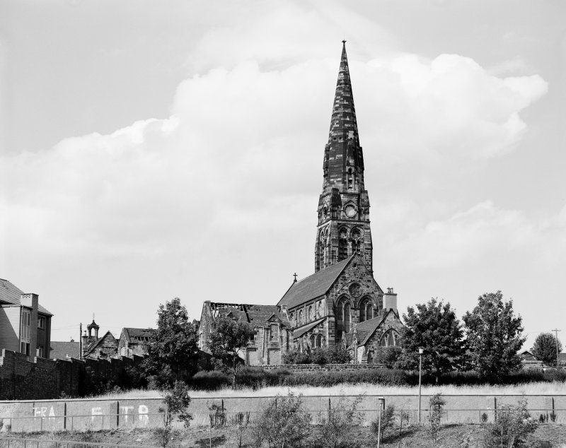 View from South West  Townhead and Blochairn Parish Church