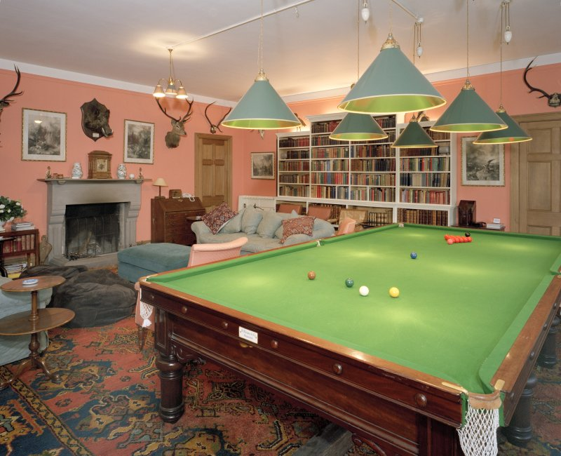 Interior. Ground floor. View of billiard room