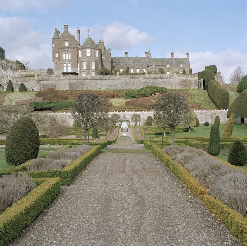 View of house from formal garden to South.