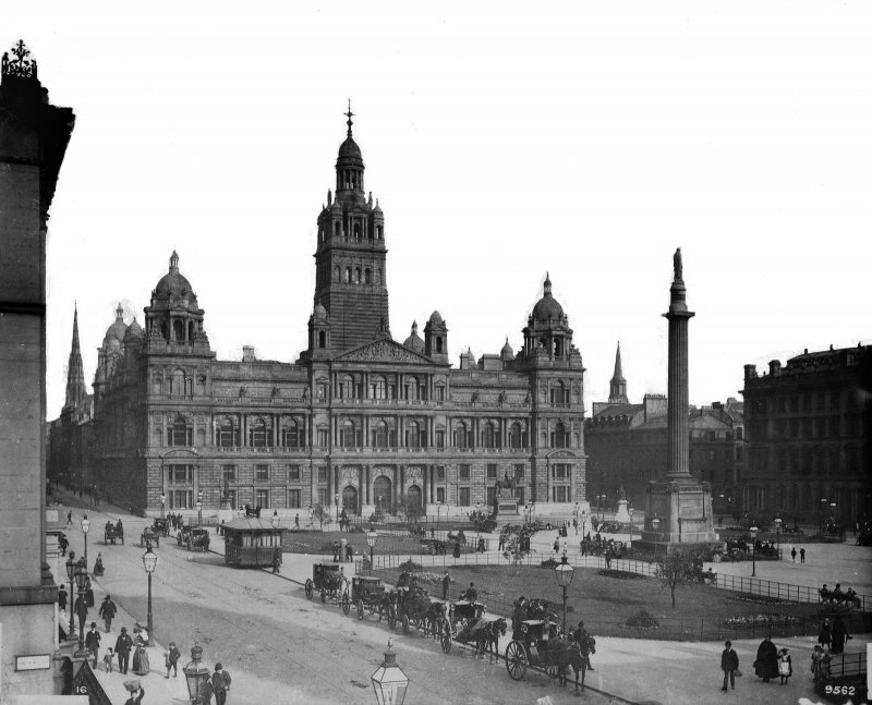 View of City Chambers and George Square, Glasgow.