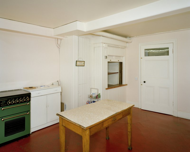 Interior. Basement view of scullery