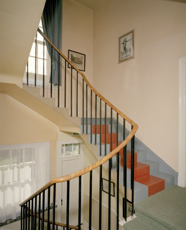 Interior. View of back stair