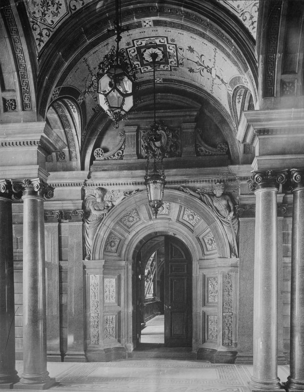 View of the City Chambers, 82 George Square, Glasgow.