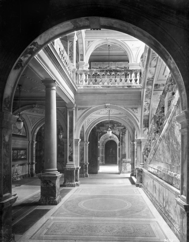 Interior view of the City Chambers, 82 George Square, Glasgow.