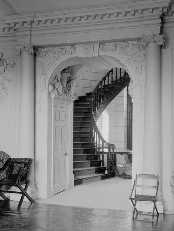 View of hall and staircase.