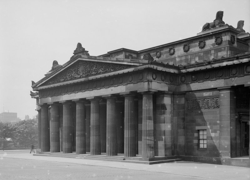 General view of portico on South facade