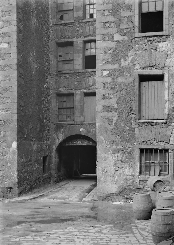 General view of main entrance wynd from courtyard to rear