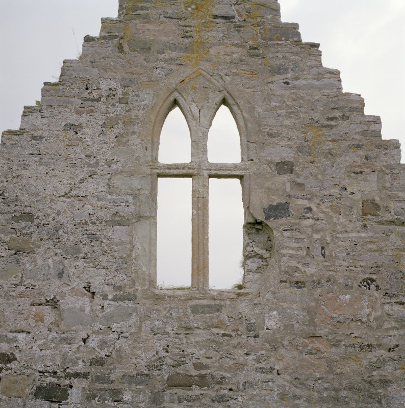 Window on W gable, view from W