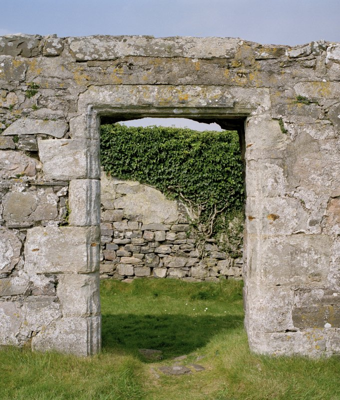 Doorway on E side of N aisle, view from E