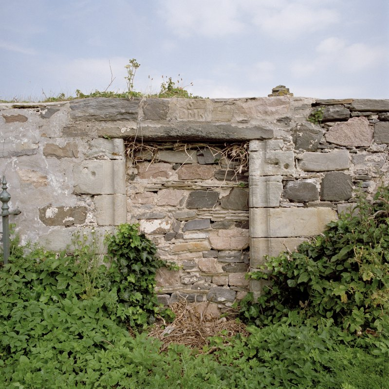 Blocked doorway on S wall, view from S
