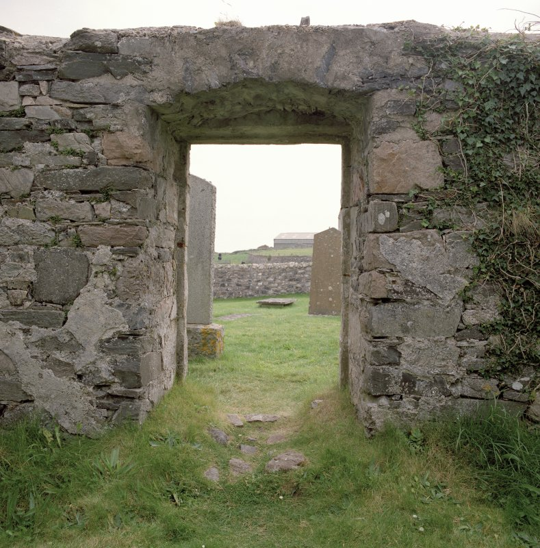 Interior, N aisle, E doorway, view from W