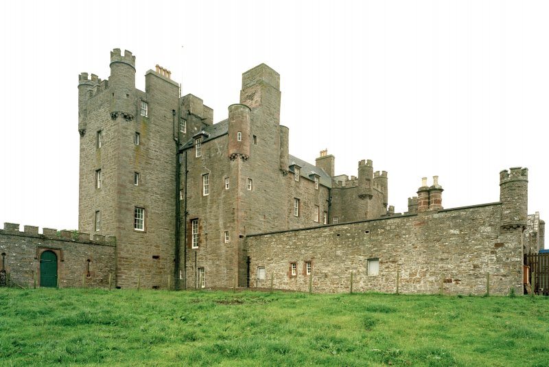 View of castle and courtyard from north east