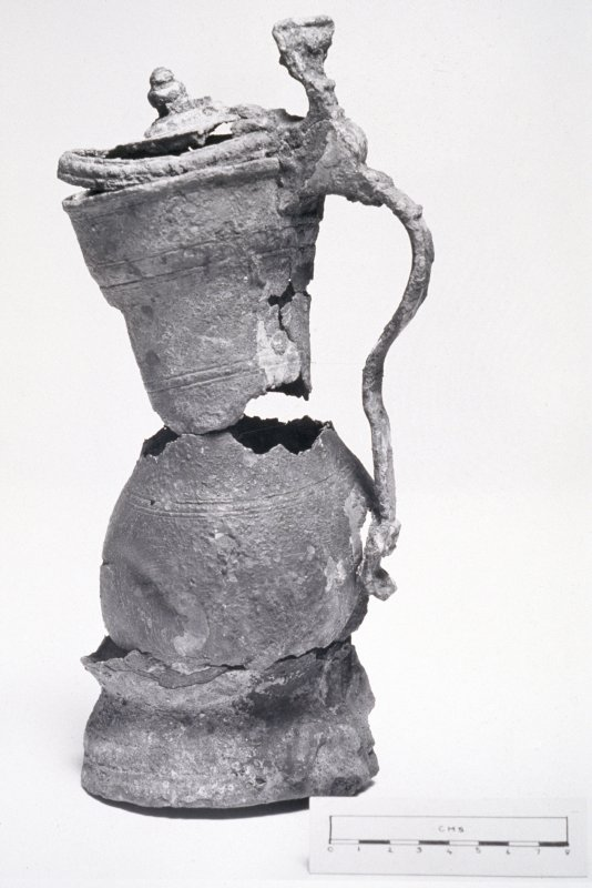 Maritime photographs: Pewter flagon (see BP 189/5/2 PO) recovered by the Archaeological Diving Unit (ADU) during investigations of the wreck off Duart Point.