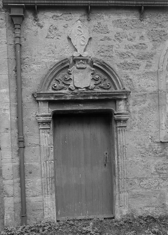 Detail of doorway to transept.