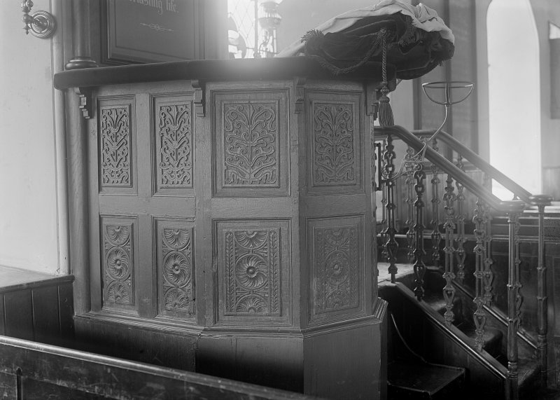 Detail of pulpit.