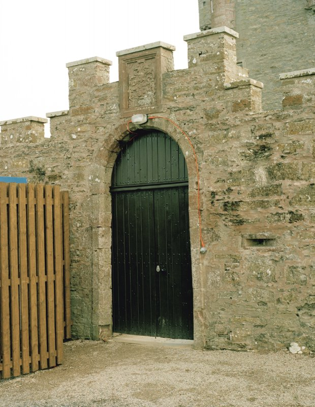 View of doorway to courtyard on north front