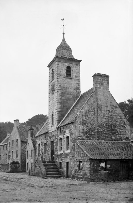 Culross, Townhouse View from south east. Scanned image from original glass plate negative. Original envelope annotated by Erskine Beveridge 'Townhouse Culross'