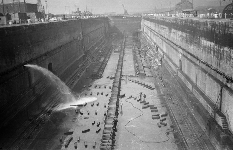 Scanned image of negative showing No.3 Dry Dock, taken from the S.