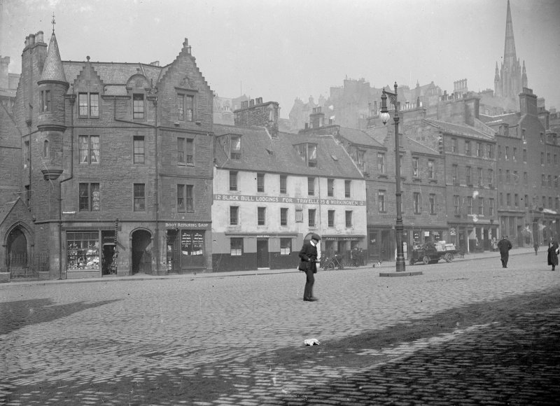 General view of part of north side of Grassmarket including Nos 6 - 40 even