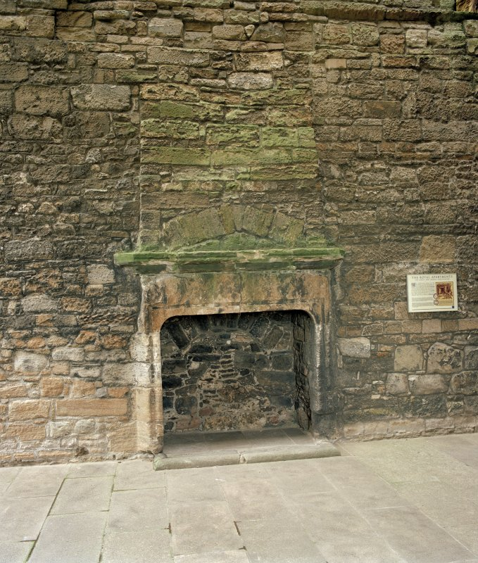 West range, 1st. floor, Royal apartments, view of fireplace