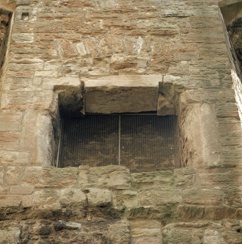 West range, view of fireplace