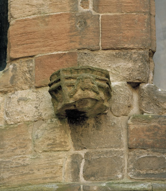 Courtyard, south west tower, detail of corbel