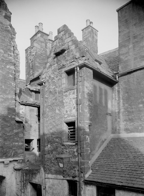 View of upper storeys of Brown's Court