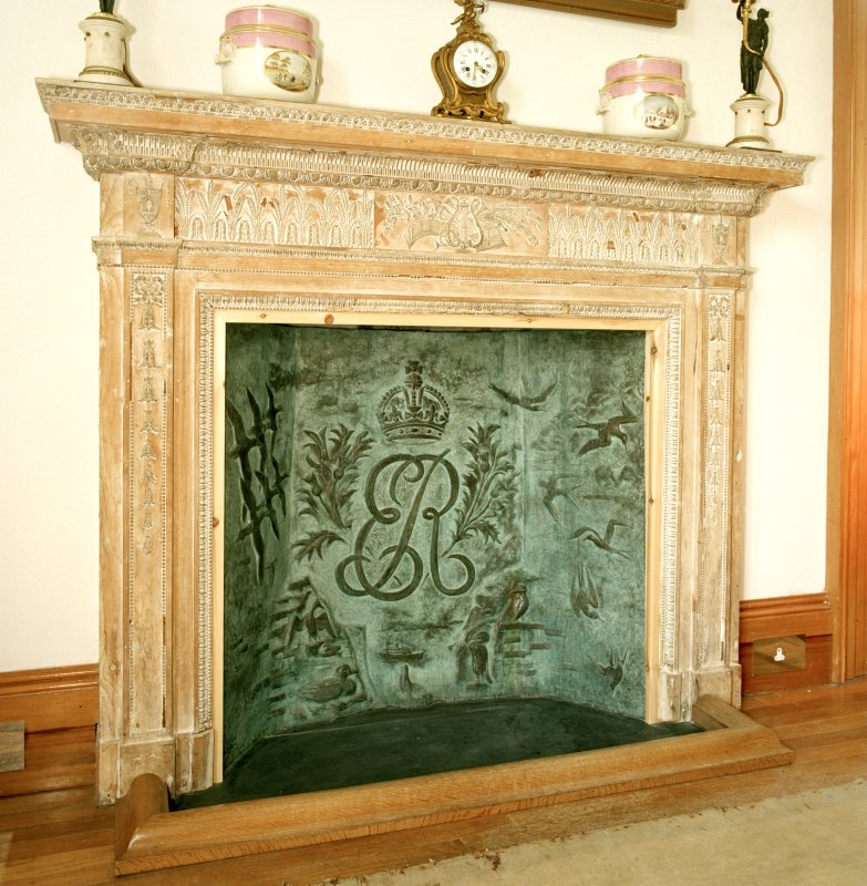 Castle of Mey, 1st floor, dining-room, detail of fireplace