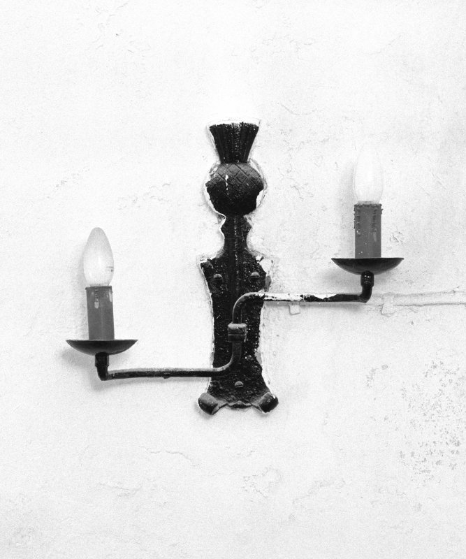 Interior, detail of specimen 'thistle' wall sconce