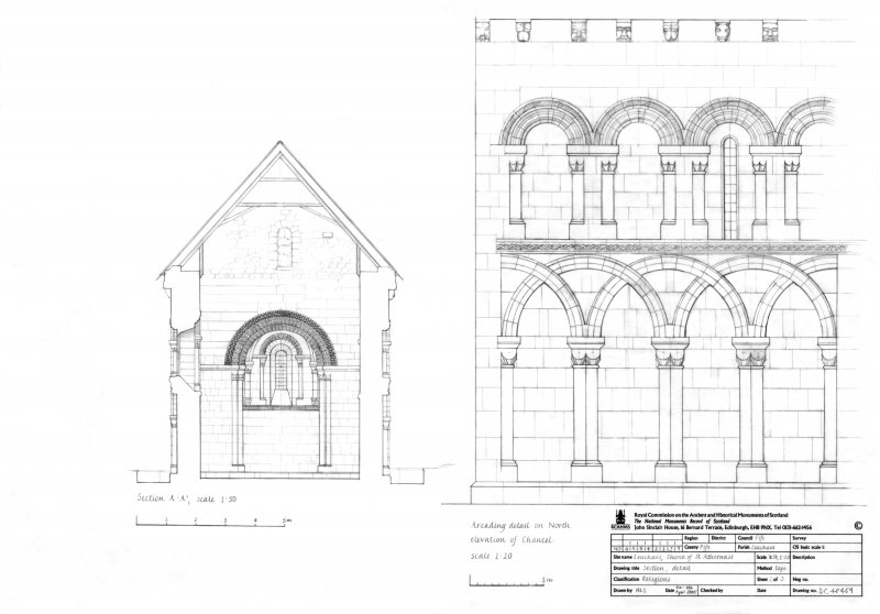 Section and Arcading detail on North elevation of Chancel