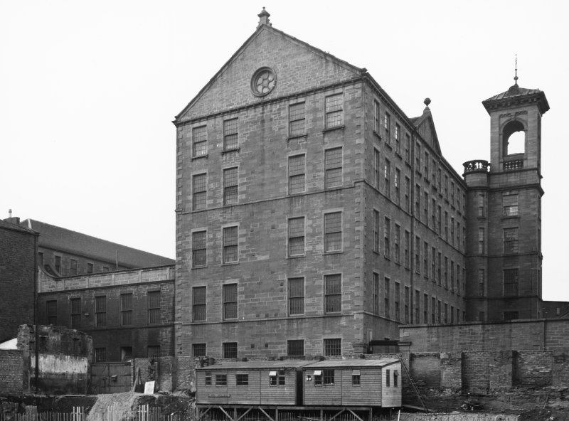 General view of Ward Mills, Dundee prior to demolition.