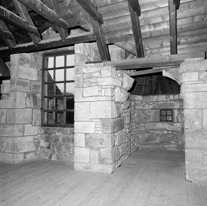 Interior. View of attic room.