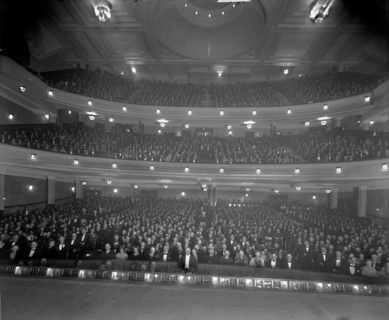 View of the Empire Theatre auditorium, Edinburgh, with audience.