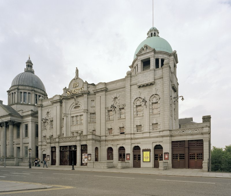 Aberdeen, Rosemount Viaduct, His Majesty's Theatre. General view of exterior from South-East.