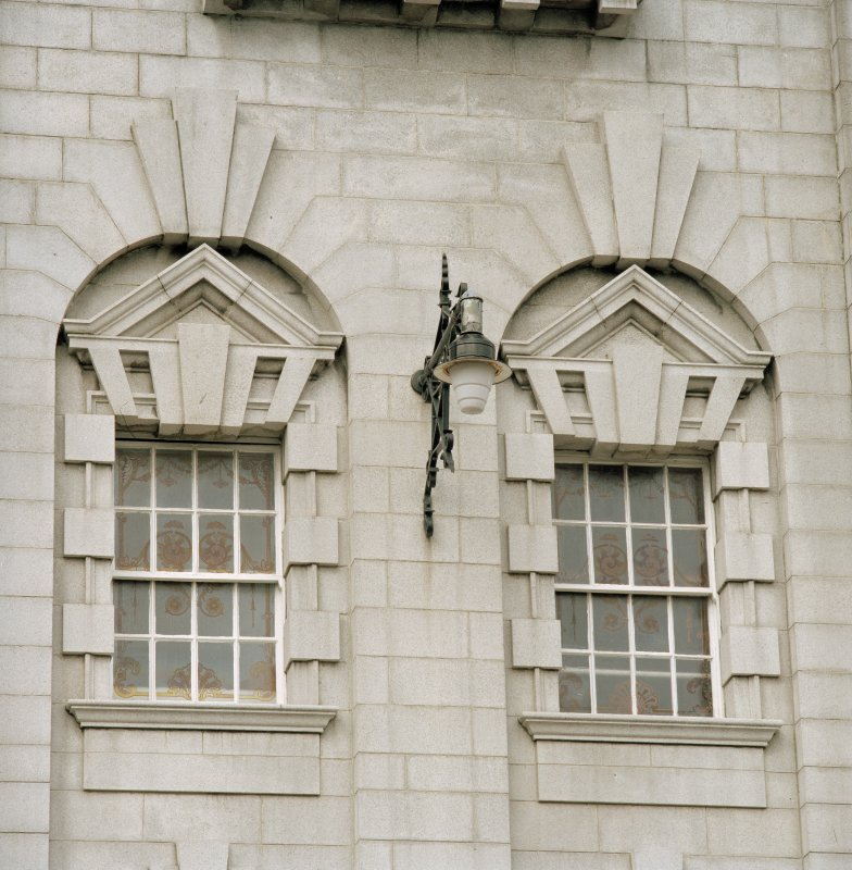 Aberdeen, Rosemount Viaduct, His Majesty's Theatre. Detail of windows on main facade.