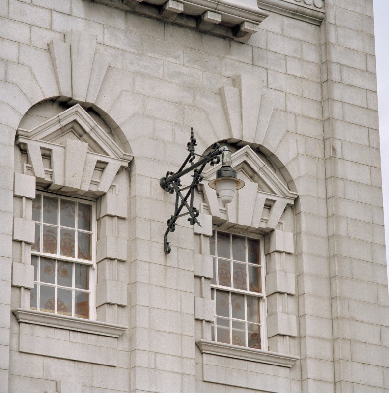 Aberdeen, Rosemount Viaduct, His Majesty's Theatre. Detail of lamp on main facade.