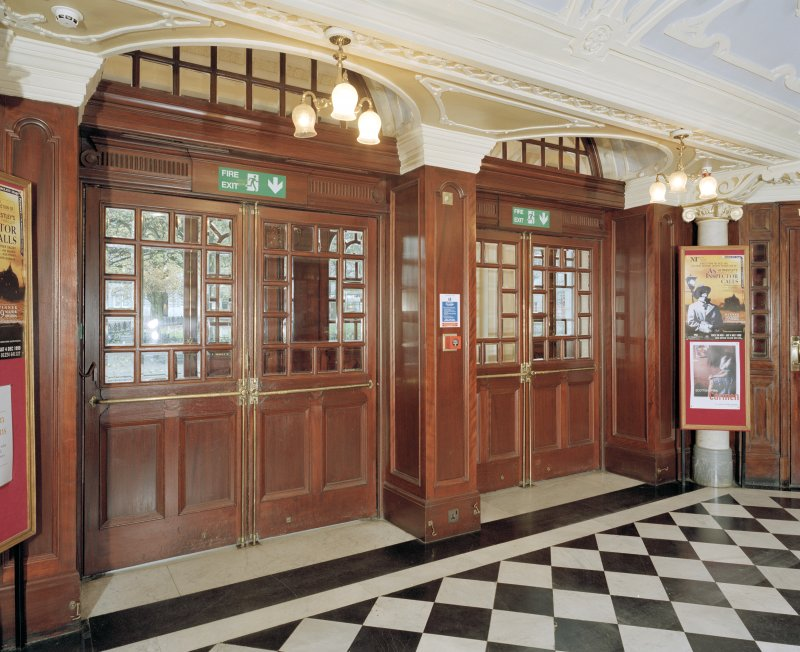 Aberdeen, Rosemount Viaduct, His Majesty's Theatre. Interior, foyer, view of front doors.