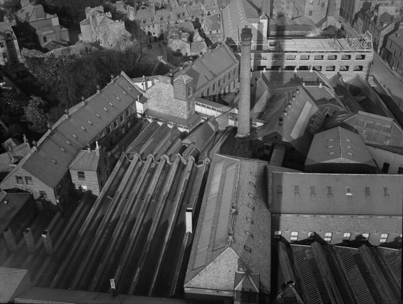 Perth, Pullars Dye Works, Kinnoull Street & Mill Street. Elevated view of Pullars Dye Works and Perth.