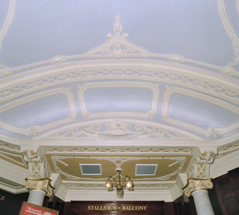 Aberdeen, Rosemount Viaduct, His Majesty's Theatre. Interior, foyer, detail of plasterwork.