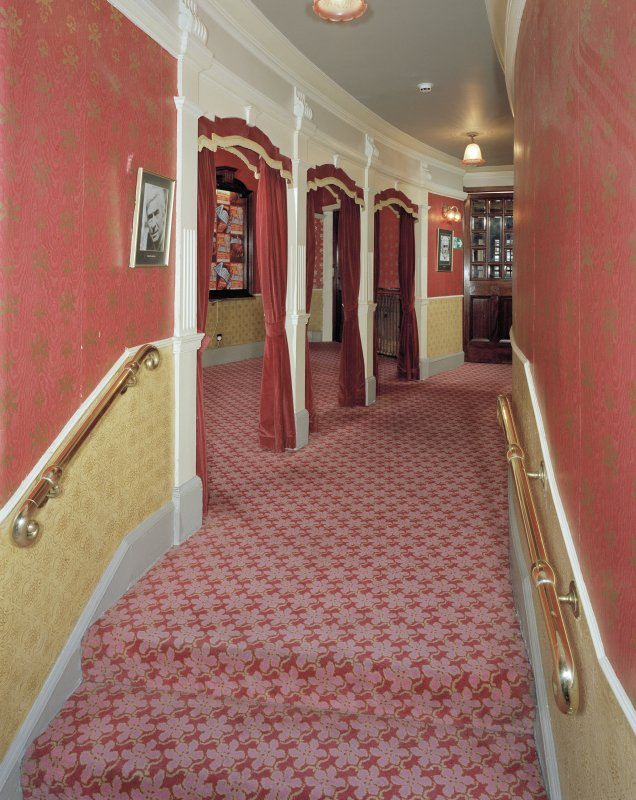 Aberdeen, Rosemount Viaduct, His Majesty's Theatre. #Interior, arched corridor to Dress Circle, view from East.