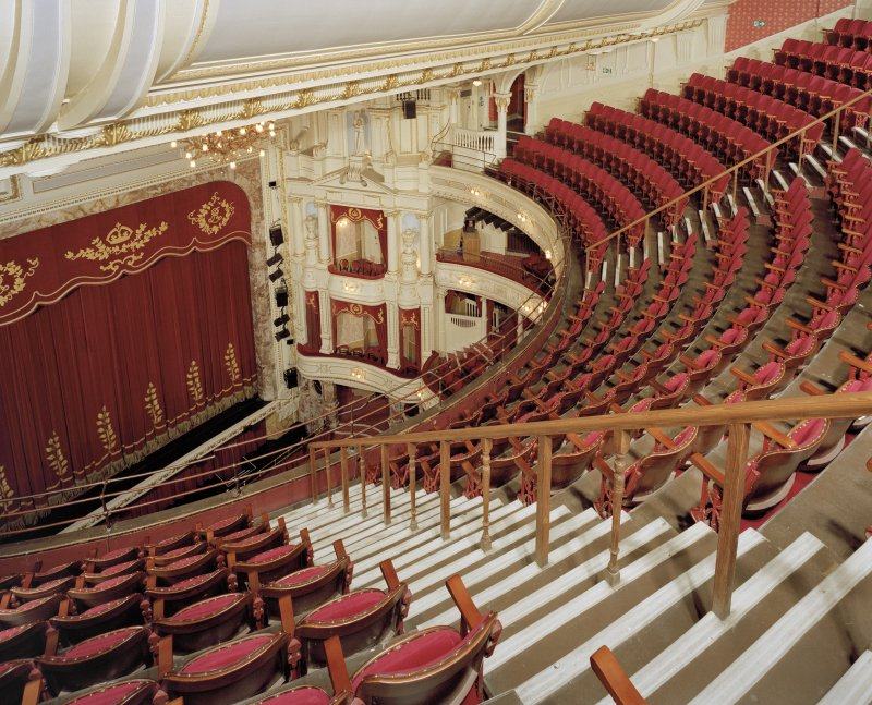 Aberdeen, Rosemount Viaduct, His Majesty's Theatre. Interior, auditorium, view from back of balcony to South-West.