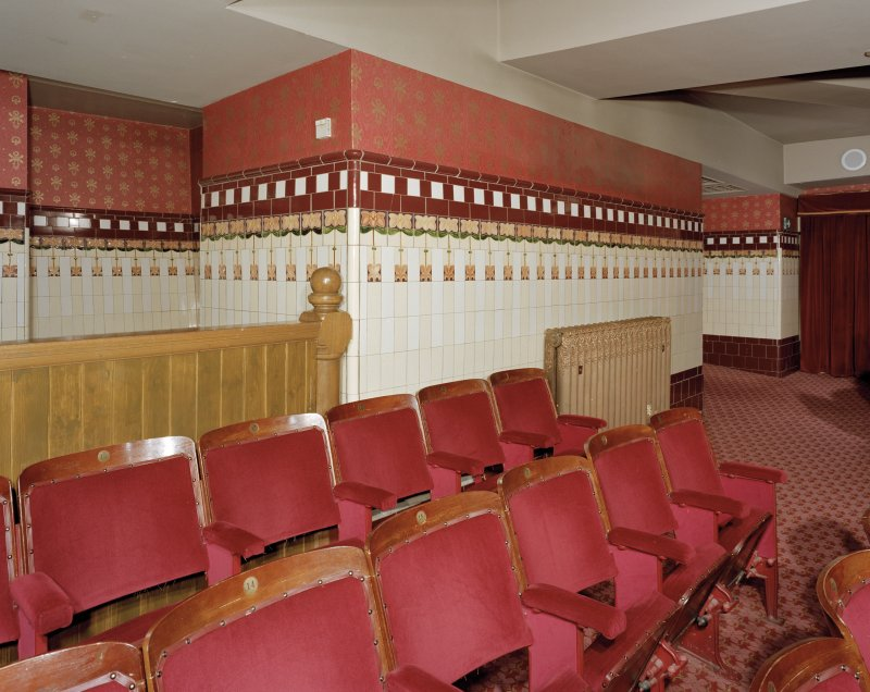 Aberdeen, Rosemount Viaduct, His Majesty's Theatre. Interior, auditorium, detail of seats at rear of stalls.