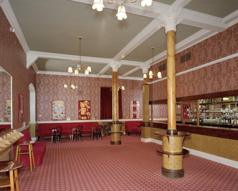 Aberdeen, Rosemount Viaduct, His Majesty's Theatre. Interior, stalls bar, view from South.