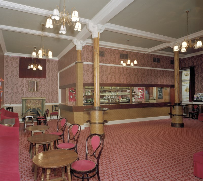 Aberdeen, Rosemount Viaduct, His Majesty's Theatre. Interior, stalls bar, view from North-West.