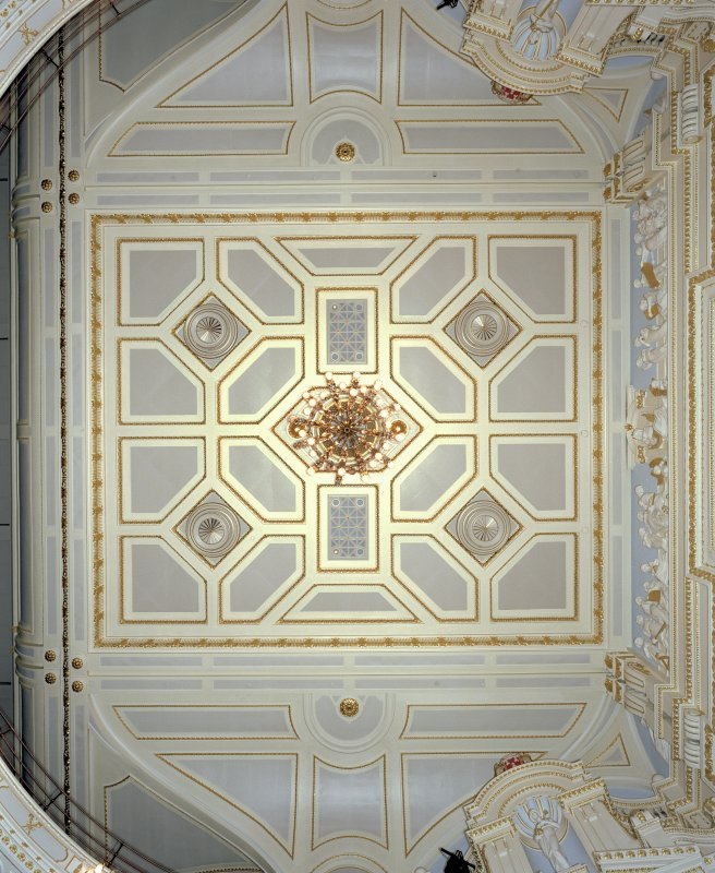 Auditorium, plan view of ceiling. His Majesty's Theatre, Aberdeen.
