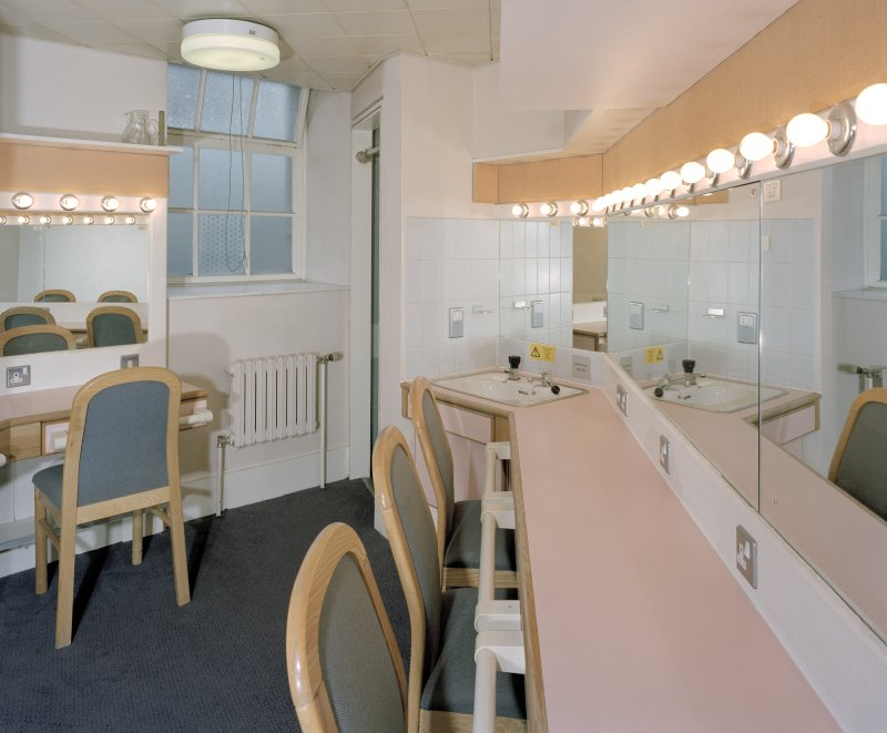 Aberdeen, Rosemount Viaduct, His Majesty's Theatre. Interior, dressing room, view of standard dressing room.