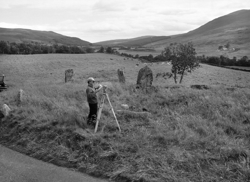 Survey photographs: Film 3 of site visits to various recumbent stone circles. Includes Colmeallie.