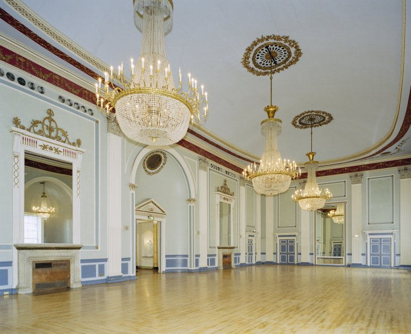 Interior, 1st floor, assembly room, view from NE