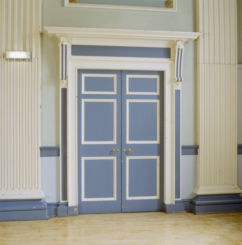 Interior, 1st floor, assembly room, view of door