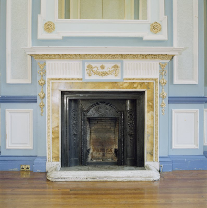 Interior, 1st floor, W dressing-room, view of fireplace